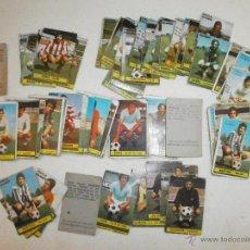 Cromos de Fútbol: 65 CROMOS ANTIGUOS DE FUTBOL CHICLE SANBER AÑO 1974. Lote 39432862