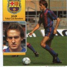 Cromos de Fútbol: SOLER (F.C. BARCELONA) - COLOCA - CAMPEONATO DE LIGA 92/93 - EDICIONES ESTE - NUNCA PEGADO.. Lote 208282335
