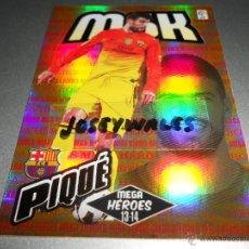 Cromos de Fútbol: MGK 368 PIQUE MEGA HEROES F.C. BARCELONA CROMOS MEGACRACKS LIGA FUTBOL 2013 2014 13 14. Lote 207095922
