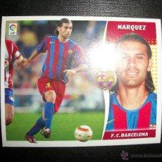 Figurine di Calcio: MARQUEZ DEL BARCELONA ALBUM ESTE LIGA - 2006- 2007 ( 06 - 07 ). Lote 263178220