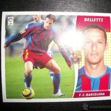Figurine di Calcio: BELLETTI DEL BARCELONA ALBUM ESTE LIGA - 2006- 2007 ( 06 - 07 ). Lote 263178325