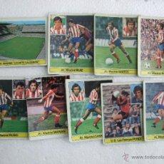 Cromos de Fútbol: LOTE 9 CROMOS - EDICIONES ESTE - CAMPEONATO LIGA 81 - 82 - AT MADRID - CAMPO FUTBOL VICENTE CALDERON. Lote 39803316