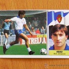 Cromos de Fútbol: ZARAGOZA - ABAD - COLOCA - EDICIONES ESTE 1986-1987, 86-87. Lote 39886227