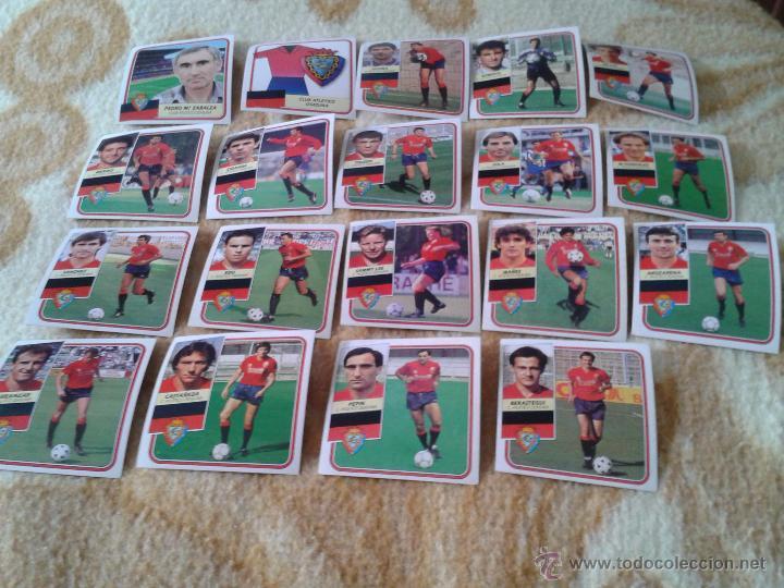 LOTE 19 CROMOS OSASUNA LIGA 89 90 1989 1990 FUTBOL NUNCA PEGADOS EDICIONES ESTE (Coleccionismo Deportivo - Álbumes y Cromos de Deportes - Cromos de Fútbol)