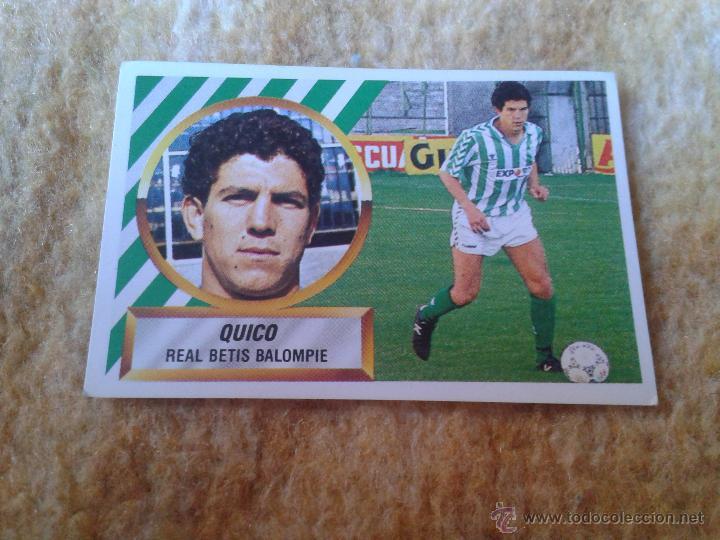 CROMO FUTBOL QUICO BETIS LIGA 88 89 1988 1989 NUNCA PEGADO DIFICIL EDICIONES ESTE Nº 4 (Coleccionismo Deportivo - Álbumes y Cromos de Deportes - Cromos de Fútbol)