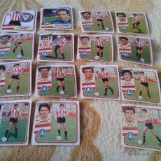 Cromos de Fútbol: LOTE 15 CROMOS FUTBOL LOGROÑES LIGA 89 90 1989 1990 NUNCA PEGADOS CON COMAS DIFICIL EDICIONES ESTE. Lote 39984748