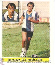 ESTE 81/82 UF 28 BIS MULLER DEL HERCULES NUEVO DE SOBRE (Coleccionismo Deportivo - Álbumes y Cromos de Deportes - Cromos de Fútbol)