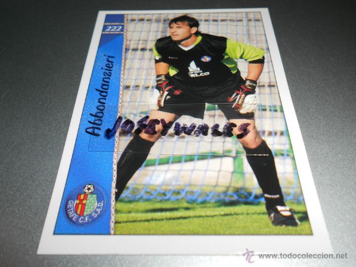 222 ABBONDANZIERI GETAFE CROMOS ALBUM MUNDICROMO FICHAS LIGA FUTBOL 06 07 2006 2007 (Coleccionismo Deportivo - Álbumes y Cromos de Deportes - Cromos de Fútbol)