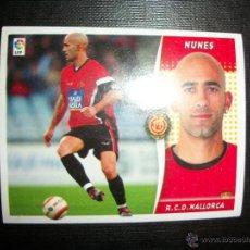 Cromos de Fútbol: NUNES DEL MALLORCA ALBUM ESTE LIGA - 2006- 2007 ( 06 - 07 ). Lote 183398611