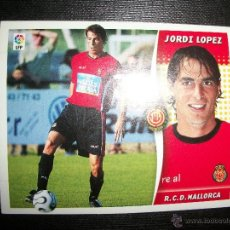 Cromos de Fútbol: JORDI LOPEZ DEL MALLORCA ALBUM ESTE LIGA - 2006- 2007 ( 06 - 07 ). Lote 183398328