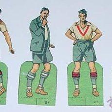 Cromos de Fútbol: 6 ANTIGUOS CROMOS TROQUELADOS CON JUGADORES DE FUTBOL - MIDEN 10 CMS. DE ALTURA DESDE LA BASE -. Lote 38234750