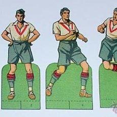 Cromos de Fútbol: 6 ANTIGUOS CROMOS TROQUELADOS CON JUGADORES DE FUTBOL - MIDEN 10 CMS. DE ALTURA DESDE LA BASE -. Lote 38234751