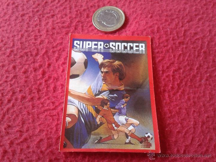 CROMO BOLLYCAO AÑOS 80 MSX HIT-BIT SONY NUNCA PEGADO SUPER SOCCER FUTBOL JUEGOS DE ORDENADOR (Coleccionismo Deportivo - Álbumes y Cromos de Deportes - Cromos de Fútbol)