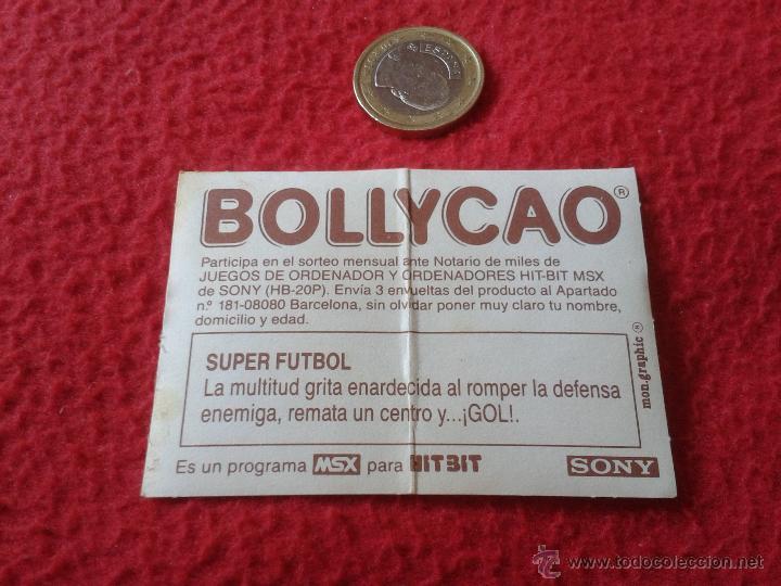 Cromos de Fútbol: CROMO BOLLYCAO AÑOS 80 MSX HIT-BIT SONY NUNCA PEGADO SUPER SOCCER FUTBOL JUEGOS DE ORDENADOR - Foto 2 - 40279423