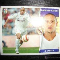 Figurine di Calcio: ROBERTO CARLOS DEL REAL MADRID ALBUM ESTE LIGA - 2006- 2007 ( 06 - 07 ). Lote 275264098