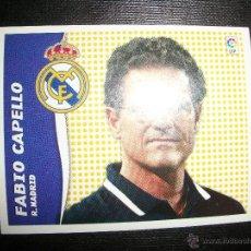 Figurine di Calcio: FABIO CAPELLO ENTRENADOR DEL REAL MADRID ALBUM ESTE LIGA - 2006- 2007 ( 06 - 07 ). Lote 263154450