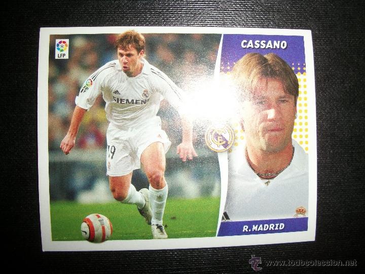 CASSANO DEL REAL MADRID ALBUM ESTE LIGA - 2006- 2007 ( 06 - 07 ) (Coleccionismo Deportivo - Álbumes y Cromos de Deportes - Cromos de Fútbol)