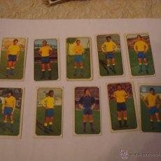 Cromos de Fútbol: 77-78 ESTE. LOTE 10 CROMOS LAS PALMAS. NUNCA PEGADO.. Lote 40756423