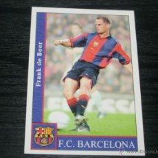 Cromos de Fútbol: -MUNDICROMO 2002 : 472 + FRANK DE BOER ( BARCELONA ) . Lote 68556577