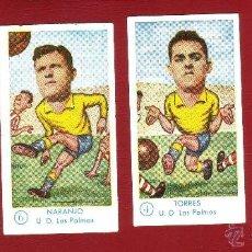Cromos de Fútbol: FÚTBOL CAMPEONATO 1958-1959 - GRÁFICAS EXCELSIOR - U.D. LAS PALMAS - 5 CROMOS. Lote 36290281