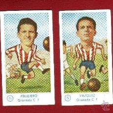 Cromos de Fútbol: FÚTBOL CAMPEONATO 1958-1959 - GRÁFICAS EXCELSIOR - GRANADA C.F. - 4 CROMOS. Lote 36290520