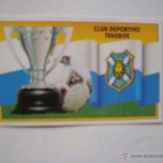 Cromos de Fútbol: TENERIFE ESCUDO EDICIONES ESTE 1990-1991 90-91 SIN PEGAR. Lote 41044727