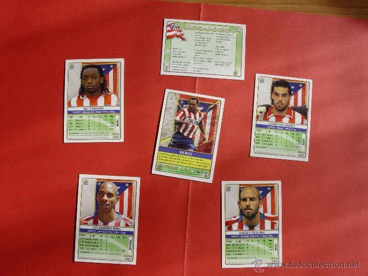 Cromos de Fútbol: Lote 6 cromos At. Madrid: plantilla, himno, Perea, Sergi, Musampa... (Mundicromo; LFP, 2004-05) - Foto 2 - 41102509