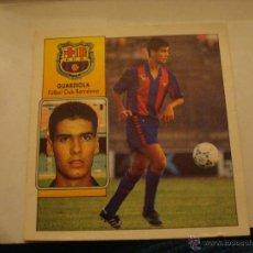 Cromos de Fútbol: 92-93 ESTE. GUARDIOLA. DESPEGADO PERO BUEN ESTADO. Lote 41294008