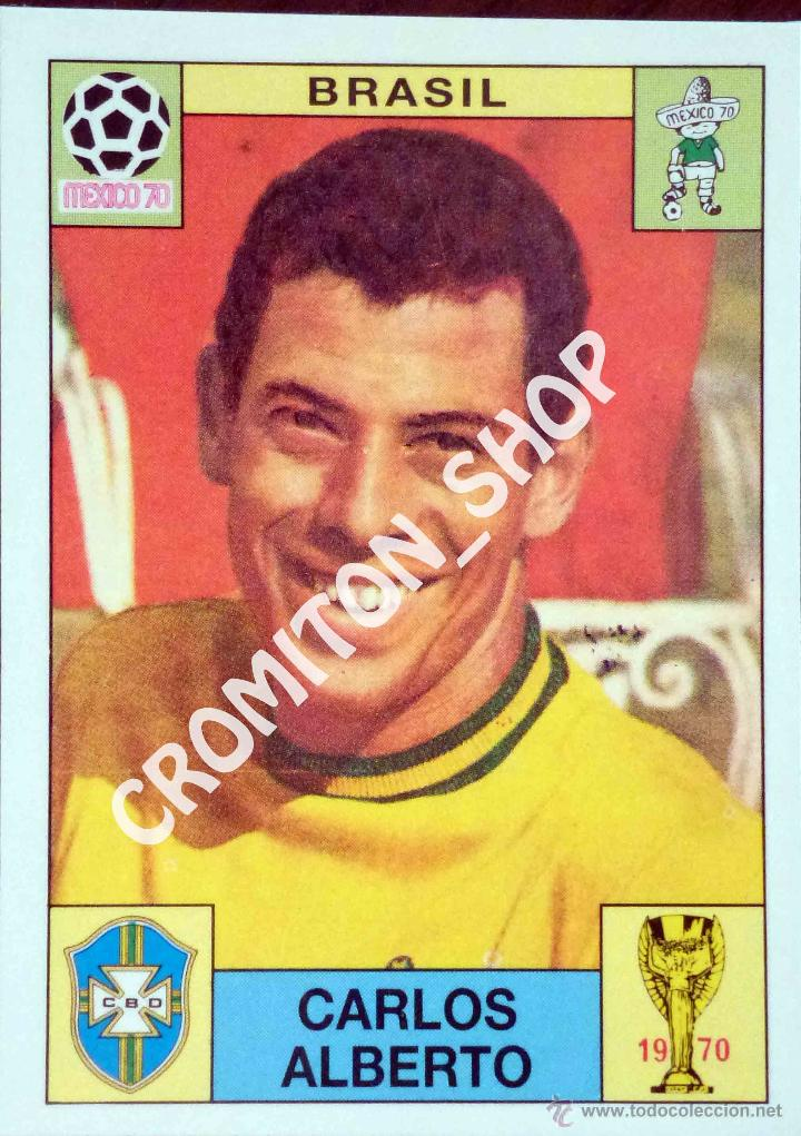 Verzamelkaarten: sport Panini 30 Carlos Alberto Brasil Mexico'70 World Cup Story