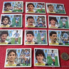 Cromos de Fútbol: LOTE DE 11 CROMOS REAL SOCIEDAD DE FUTBOL LIGA 87 88 1987 1988 NUNCA PEGADOS EDICIONES ESTE. Lote 41615562