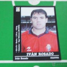 Cromos de Fútbol: CROMO DE FUTBOL,IVÁN ROSADO DEL AT. OSASUNA,Nº320,(SIN PEGAR),LIGA PANINI 2000-2001/00-01. Lote 153942986