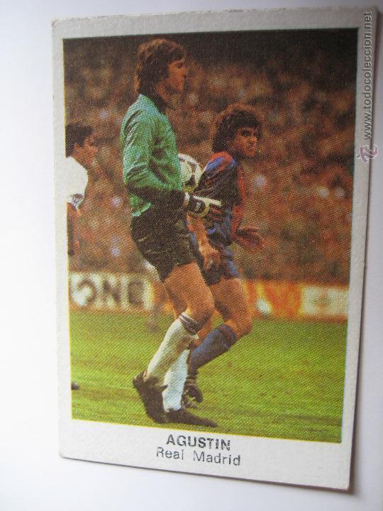 CROMOS CANO 84 AGUSTIN - MADRID - NUNCA PEGADO (Coleccionismo Deportivo - Álbumes y Cromos de Deportes - Cromos de Fútbol)