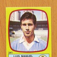 Cromos de Fútbol: OVIEDO - 241 LUIS MANUEL - FÚTBOL 89, PANINI 1988-1989, 88-89 - NUNCA PEGADO. Lote 41998720