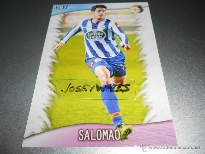 FICHAJE UH 1287 SALOMAO DEPORTIVO CORUÑA CROMOS MUNDICROMO PLATINUM QUIZ GAME 2013 2014 13 14 (Coleccionismo Deportivo - Álbumes y Cromos de Deportes - Cromos de Fútbol)