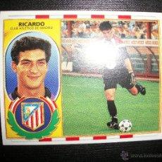 Cromos de Fútbol: RICARDO DEL ATLETICO DE MADRID ALBUM ESTE LIGA 1996 - 1997 ( 96 - 97 ). Lote 183398491