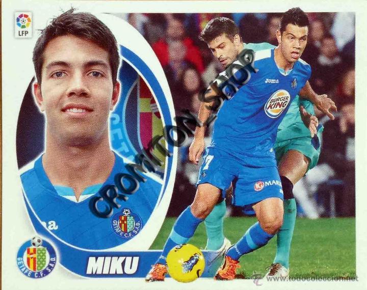 GETAFE Nº 16 MIKU - LIGA BBVA 12 13 2012 2013 EDICIONES ESTE PANINI (Coleccionismo Deportivo - Álbumes y Cromos de Deportes - Cromos de Fútbol)