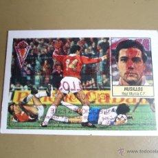 Cromos de Fútbol: ESTE 84 85 1984 1985 HUSILLOS MURCIA ERROR IMPRESION NUNCA PEGADO. Lote 42615834
