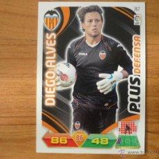Cromos de Fútbol: ADRENALYN LIGA 2011 2012 PANINI Nº 367 DIEGO ALVES (VALENCIA) PLUS DEFENSA - CROMO FUTBOL . Lote 42872445