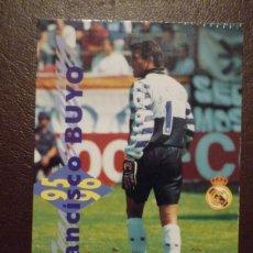 Cromos de Fútbol: CARTA FRANCISCO BUYO - REAL MADRID - MAGIC BOX INTERNATIONAL.. Lote 43023591