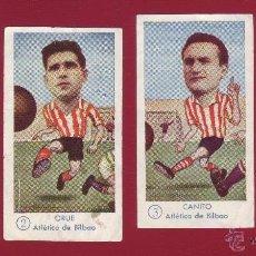 Cromos de Fútbol: FÚTBOL CAMPEONATO 1958-1959 - GRÁFICAS EXCELSIOR - ATLÉTICO BILBAO - 4 CROMOS. Lote 36289560