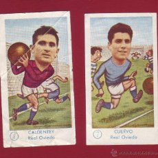 Cromos de Fútbol: FÚTBOL CAMPEONATO 1958-1959 - GRÁFICAS EXCELSIOR - REAL OVIEDO - 2 CROMOS. Lote 36592387