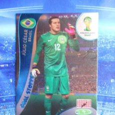 Cromos de Fútbol: JULIO CESAR BRASIL GOAL STOPPER CROMO ADRENALYN XL 2014 FIFA WORLD CUP MUNDIAL BRASIL. Lote 155700737