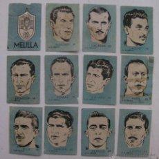 Cromos de Fútbol: 12 CROMOS FUTBOL - U.D. MELILLA - CHOCOLATES EL LINCE Y MADAM - AÑO 1951..........COMPLETO. Lote 58275528