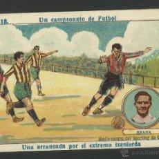 Cromos de Fútbol: MEANA -MEDIOCENTRO DEL SPORTING DE GIJON - Nº 13 - UN CAMPEONATO DE FUTBOL -(CD-406). Lote 43751752