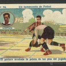 Cromos de Fútbol: ECHEVESTE - DELANTERO DEL REAL UNION DE IRUN - Nº 14 - UN CAMPEONATO DE FUTBOL -(CD-407). Lote 43751775
