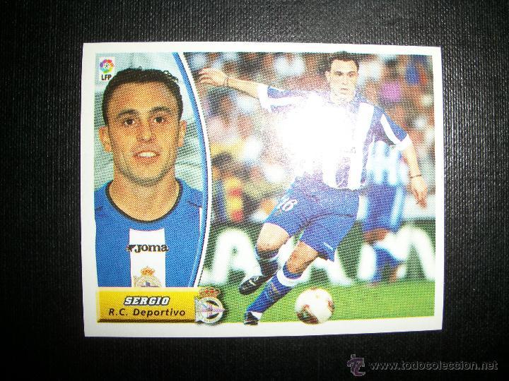 SERGIO DEL DEPORTIVO DE LA CORUÑA ALBUM ESTE LIGA 2003 - 2004 ( 03 - 04 ) (Coleccionismo Deportivo - Álbumes y Cromos de Deportes - Cromos de Fútbol)
