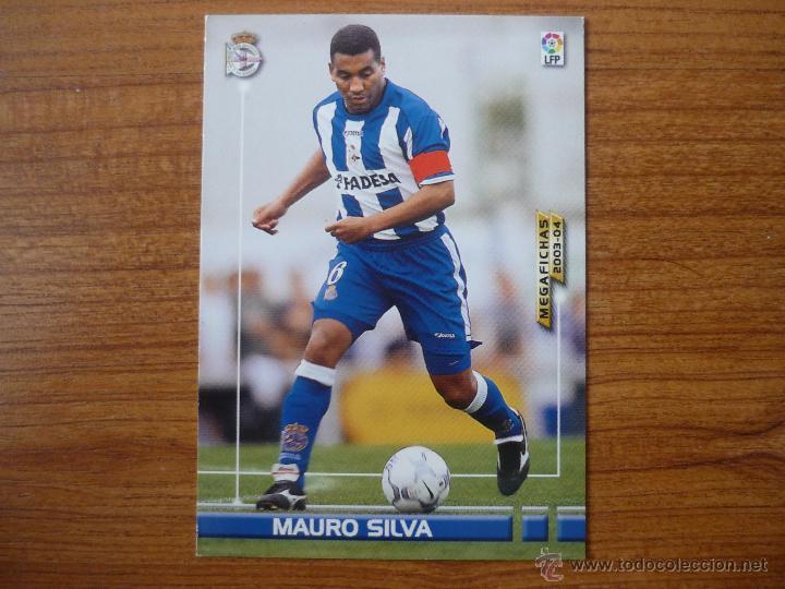 MEGAFICHAS DE LA LIGA 2003 2004 PANINI Nº 118 MAURO SILVA (DEPORTIVO CORUÑA) - FUTBOL CROMO 03 04 (Coleccionismo Deportivo - Álbumes y Cromos de Deportes - Cromos de Fútbol)