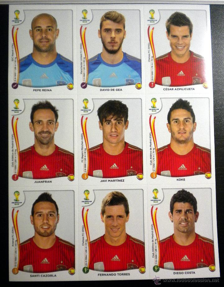 EXTRA STICKERS PANINI FIFA WORLD CUP BRASIL 2014 ACTUALIZACION ESPAÑA SPAIN (Coleccionismo Deportivo - Álbumes y Cromos de Deportes - Cromos de Fútbol)