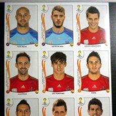 Cromos de Fútbol: EXTRA STICKERS PANINI FIFA WORLD CUP BRASIL 2014 ACTUALIZACION ESPAÑA SPAIN. Lote 44050285
