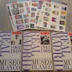 Cromos de Fútbol: LOTE 3 ALBUM DE CROMOS REAL MADRID FUTBOL MUSEO BLANCO LAMINAS Y ALBUMES . Lote 44084814